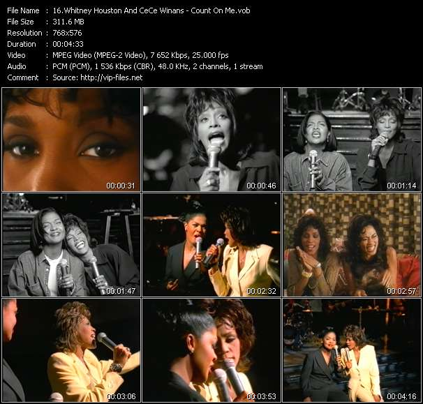 Whitney Houston And CeCe Winans - Count On Me