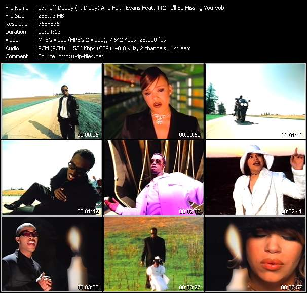 Puff Daddy (P. Diddy) And Faith Evans Feat. 112 - I'll Be Missing You