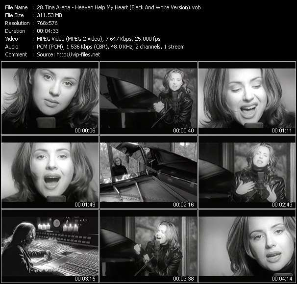 Tina Arena - Heaven Help My Heart (Black And White Version)