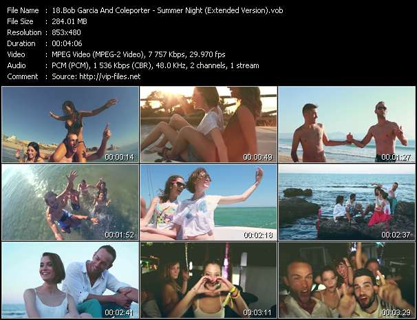 Bob Garcia And Coleporter - Summer Night (Extended Version)