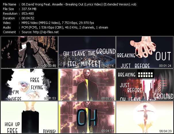 David Vrong Feat. Amaelle - Breaking Out (Lyrics Video) (Extended Version)