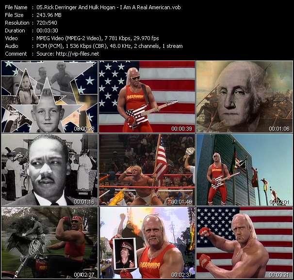Rick Derringer And Hulk Hogan - I Am A Real American