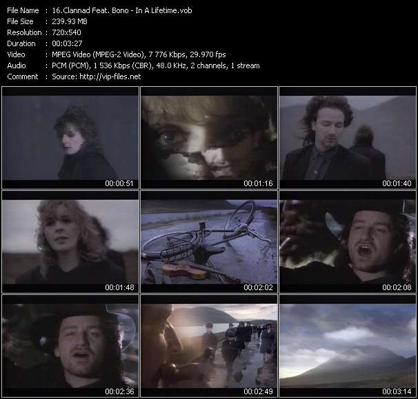 Clannad Feat. Bono - In A Lifetime