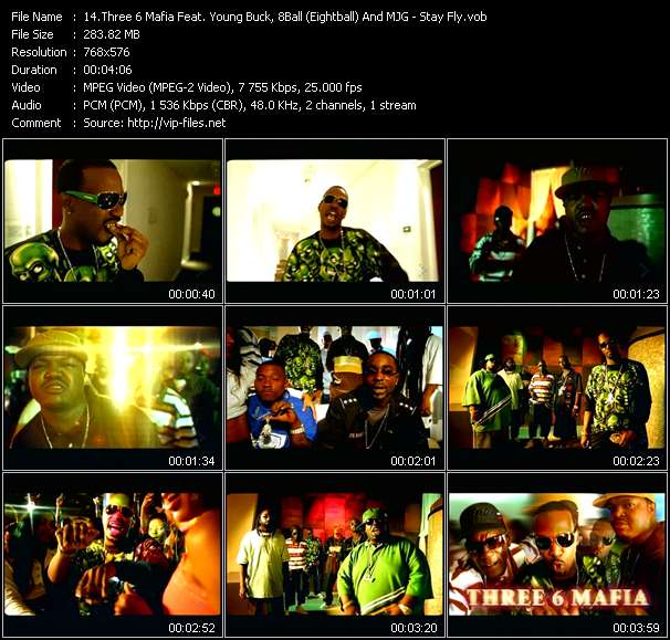 Three 6 Mafia Feat. Young Buck, 8Ball (Eightball) And MJG - Stay Fly
