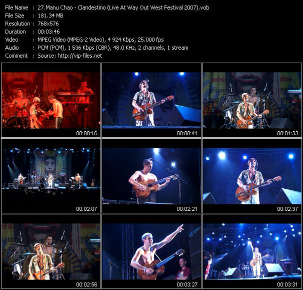 Manu Chao - Clandestino (Live At Way Out West Festival 2007)