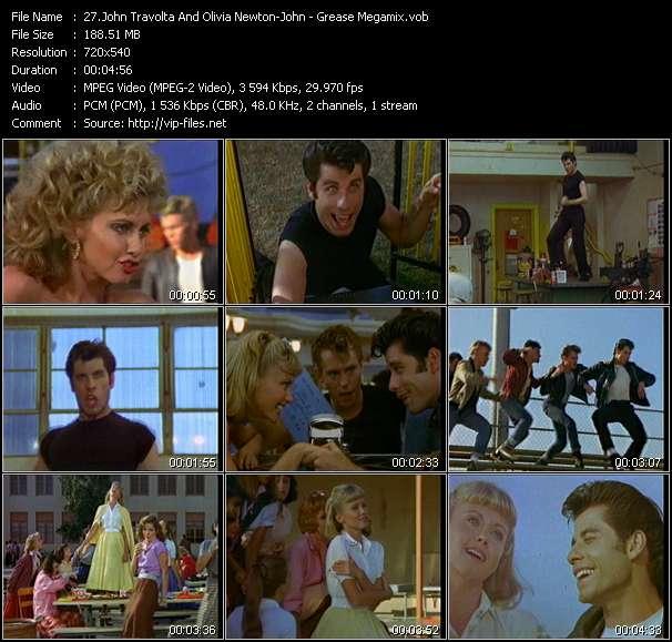 John Travolta And Olivia Newton-John - Grease Megamix