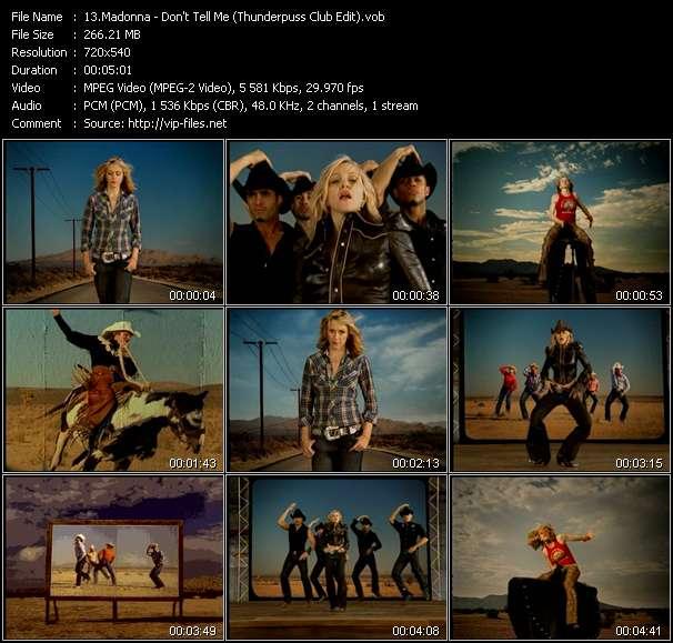 Madonna - Don't Tell Me (Thunderpuss Club Edit)