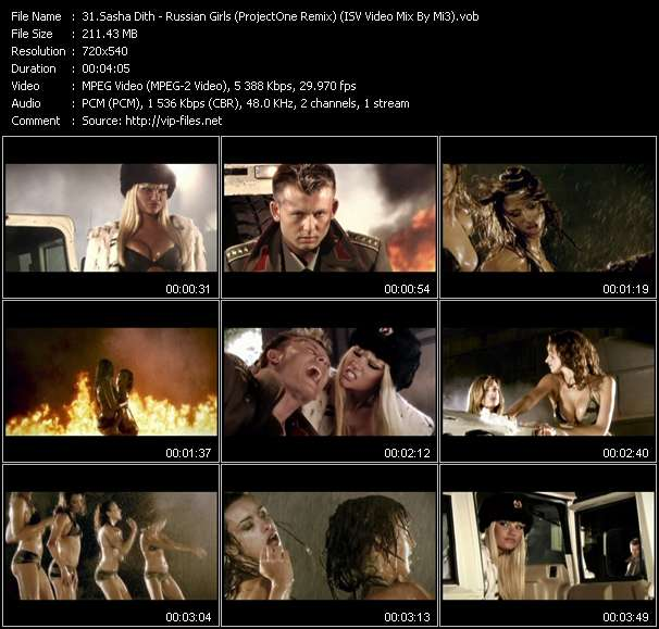 Sasha Dith - Russian Girls (ProjectOne Remix) (ISV Video Mix By Mi3)