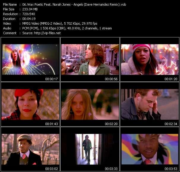 screenschot of Wax Poetic Feat. Norah Jones video