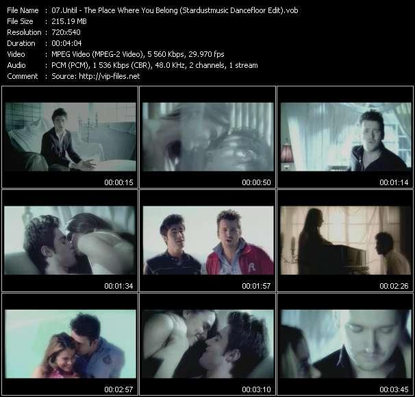 Until - The Place Where You Belong (Stardustmusic Dancefloor Edit) (ISV Video Mix By Mi3)