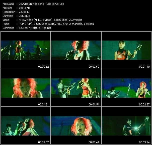 Alice In Videoland - Got To Go