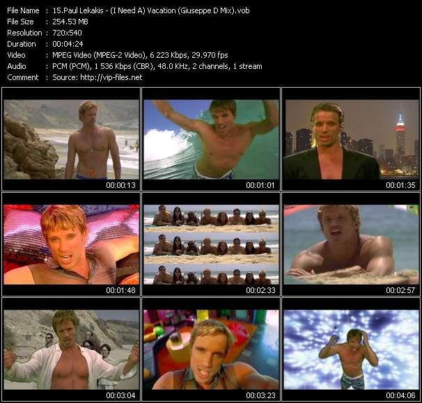Paul Lekakis - (I Need A) Vacation (Giuseppe D Mix)