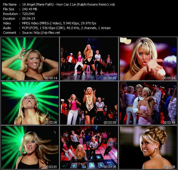 Angel (Marie Faith) - How Can I Lie (Ralphi Rosario Remix)
