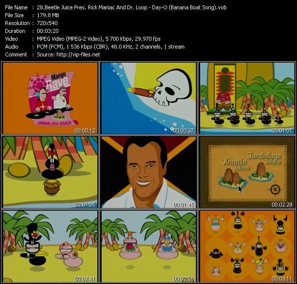 Beetle Juice Pres. Rick Maniac And Dr. Loop - Day-O (Banana Boat Song)