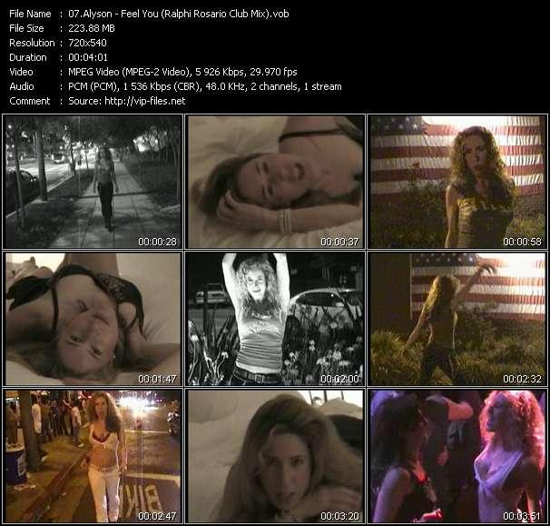 Alyson - Feel You (Ralphi Rosario Club Mix)