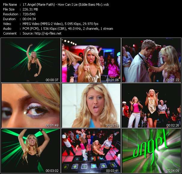 Angel (Marie Faith) - How Can I Lie (Eddie Baez Mix)