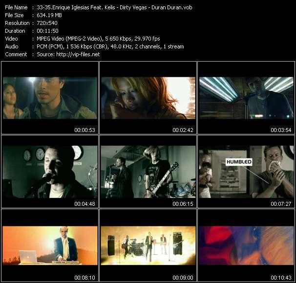 Enrique Iglesias Feat. Kelis - Dirty Vegas - Duran Duran - Not In Love (Dave Aude Vocal Edit) - Walk Into The Sun (King Unique Sunstroke Vocal Edit) - (Reach Up For The) Sunrise (Jason Nevins Club Mix Edit)