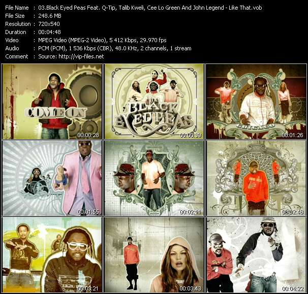 Black Eyed Peas Feat. Q-Tip, Talib Kweli, Cee Lo Green And John Legend - Like That