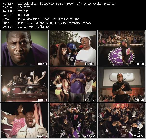Purple Ribbon All-Stars Feat. Big Boi - Kryptonite (I'm On It) (PO Clean Edit)