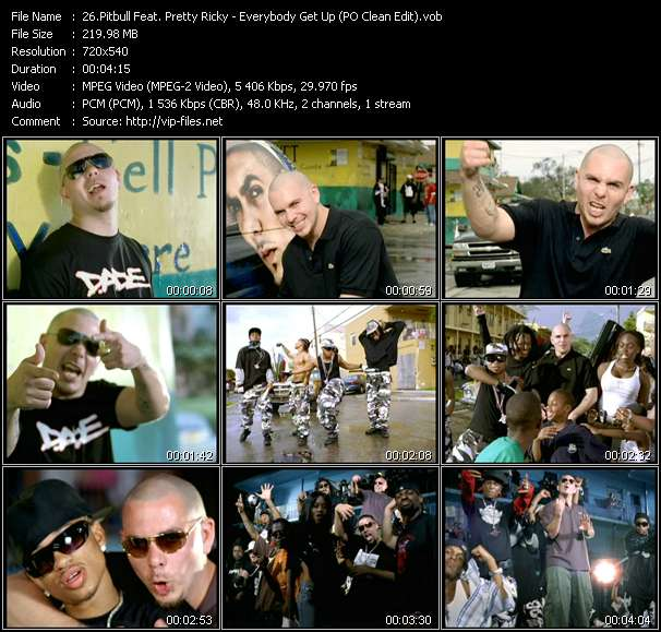 Pitbull Feat. Pretty Ricky - Everybody Get Up (PO Clean Edit)
