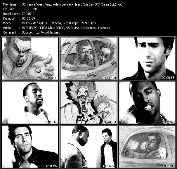 Kanye West Feat. Adam Levine - Heard 'Em Say (PO Clean Edit)