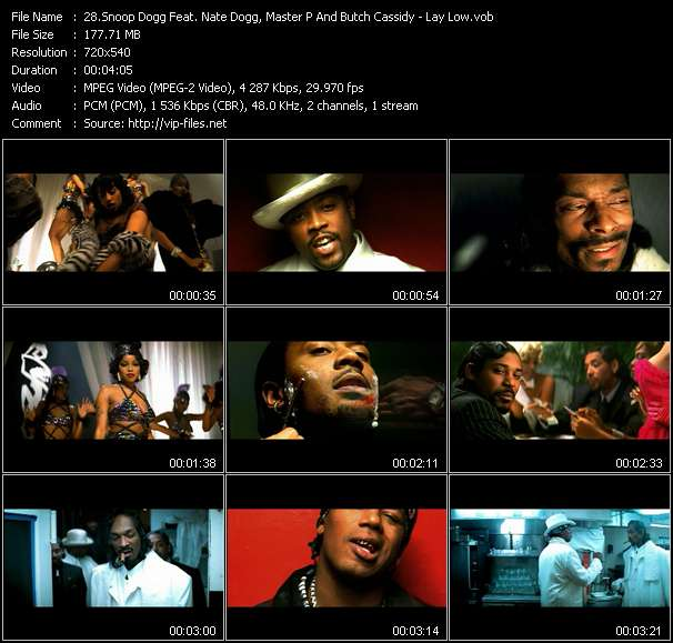 Snoop Dogg Feat. Nate Dogg, Master P And Butch Cassidy - Lay Low