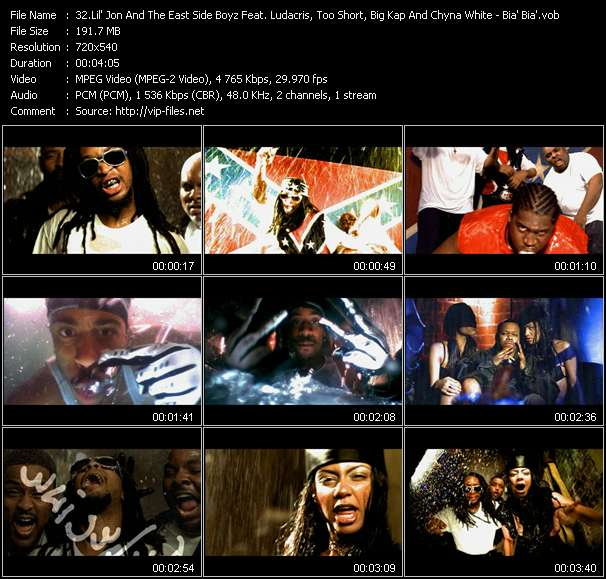 Lil' Jon And The East Side Boyz Feat. Ludacris, Too Short, Big Kap And Chyna White - Bia' Bia'