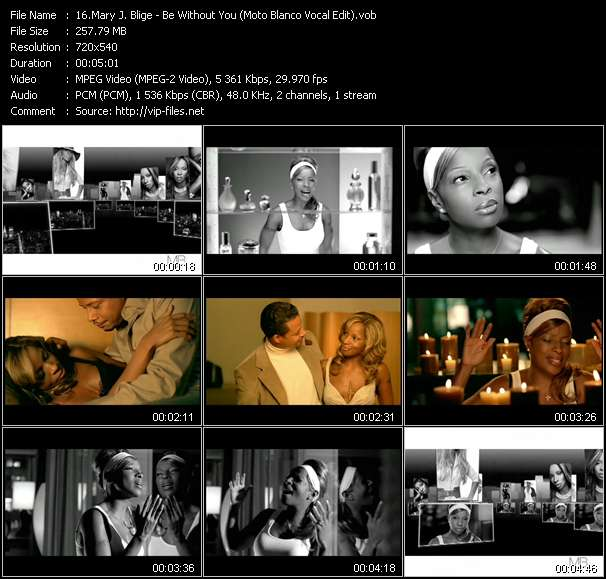 Mary J. Blige - Be Without You (Moto Blanco Vocal Edit)