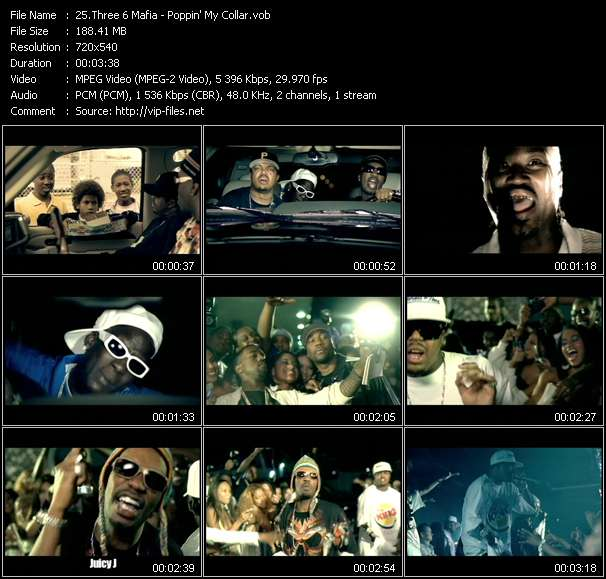 Three 6 Mafia - Poppin' My Collar