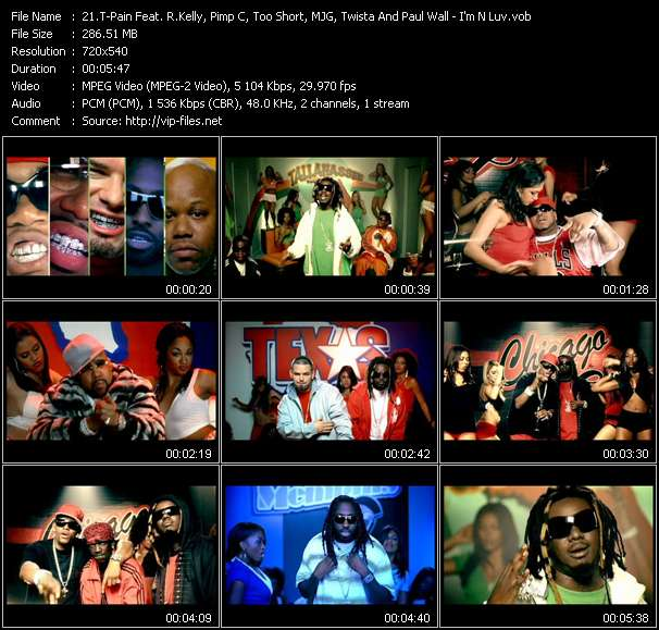 T-Pain Feat. R. Kelly, Pimp C, Too Short, MJG, Twista And Paul Wall - I'm N Luv (Wit A Stripper) (2 Tha Remix)