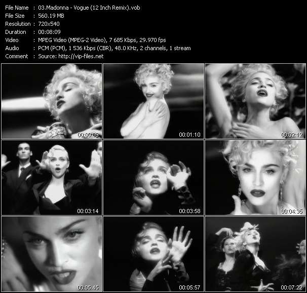 Madonna - Vogue (12 Inch Remix)