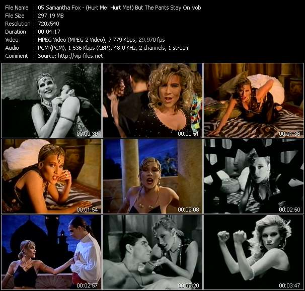 Samantha Fox - (Hurt Me! Hurt Me!) But The Pants Stay On