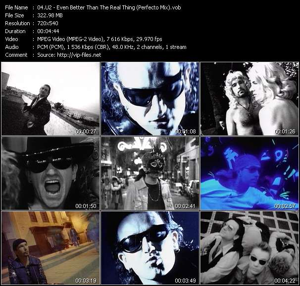 U2 - Even Better Than The Real Thing (Perfecto Mix)