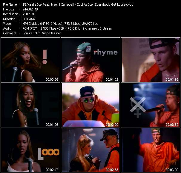 Vanilla Ice Feat. Naomi Campbell - Cool As Ice (Everybody Get Loose)
