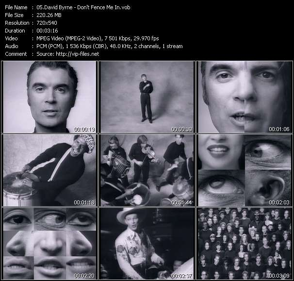 David Byrne - Don't Fence Me In