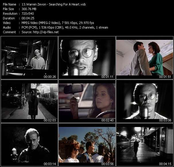Warren Zevon - Searching For A Heart