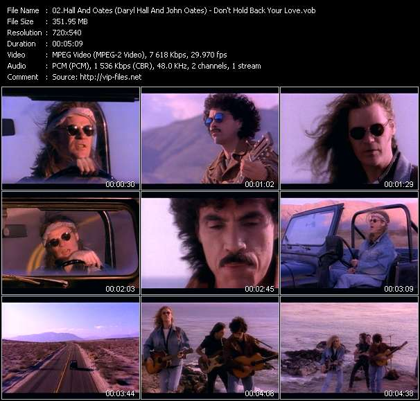 Hall And Oates (Daryl Hall And John Oates) - Don't Hold Back Your Love