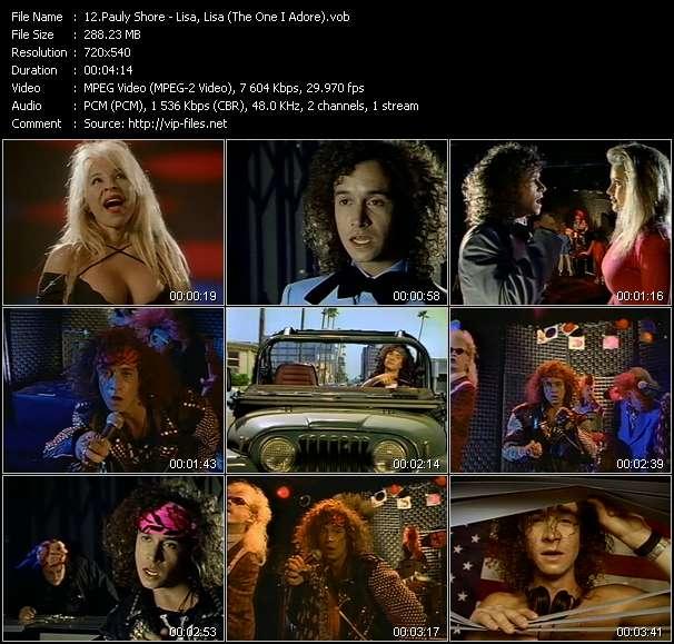 Pauly Shore - Lisa, Lisa (The One I Adore)