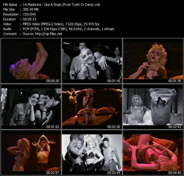 """Madonna - Like A Virgin (From """"Truth Or Dare"""")"""