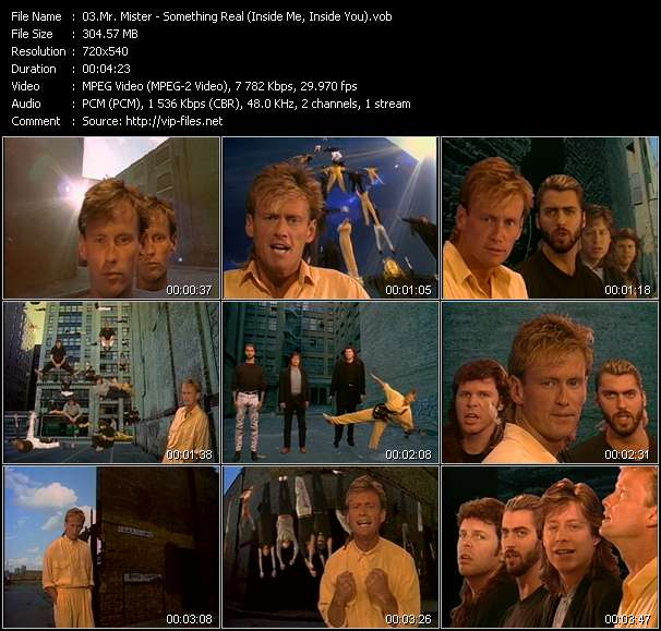 Mr. Mister - Something Real (Inside Me, Inside You)