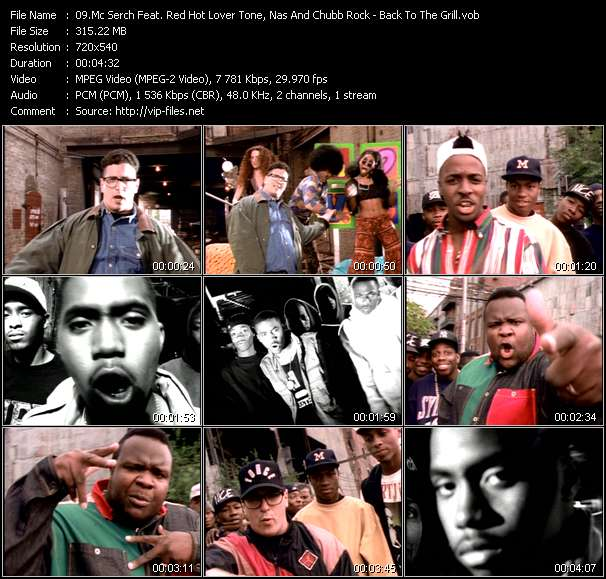 Mc Serch Feat. Red Hot Lover Tone, Nas And Chubb Rock - Back To The Grill