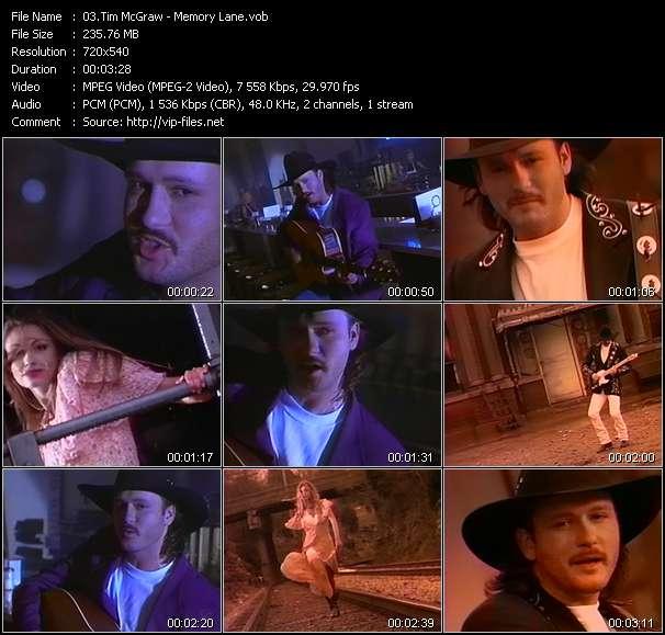 Tim McGraw - Memory Lane