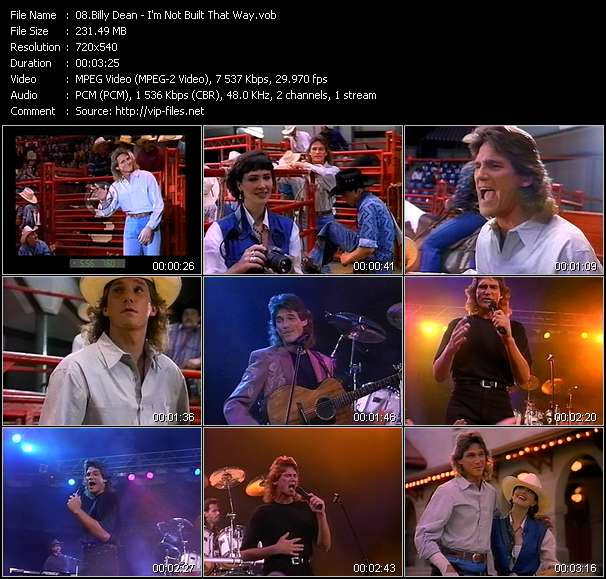 Billy Dean - I'm Not Built That Way