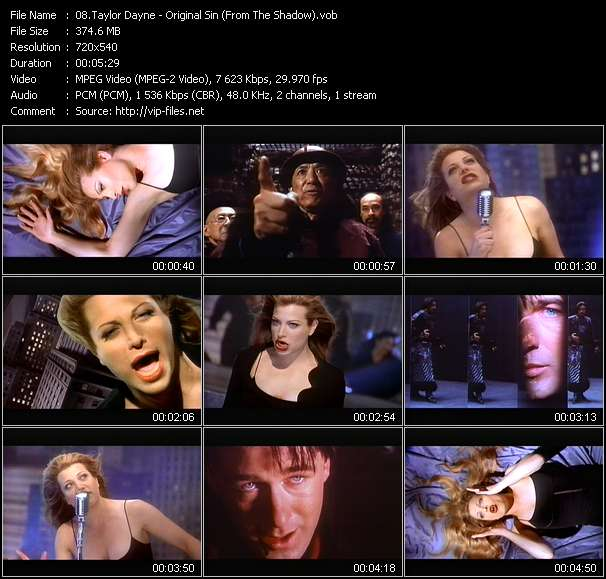 "Taylor Dayne - Original Sin (From ""The Shadow"")"