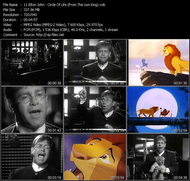 "Elton John - Circle Of Life (From ""The Lion King"")"