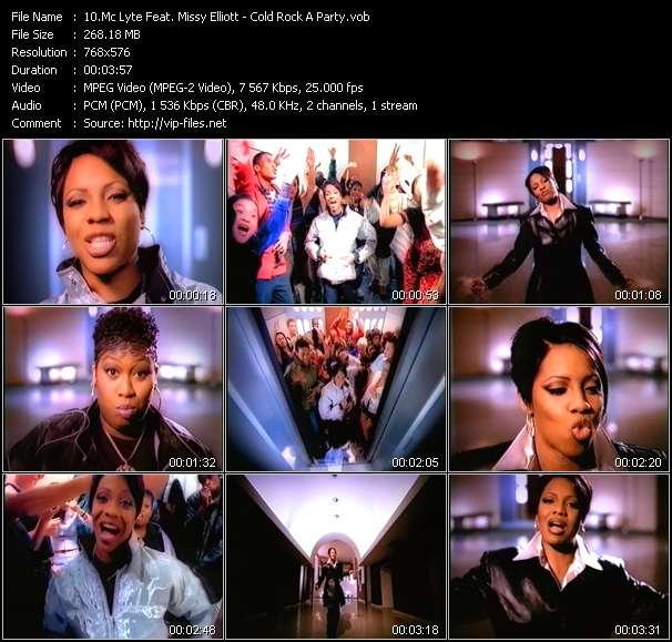 Mc Lyte Feat. Missy Elliott - Cold Rock A Party