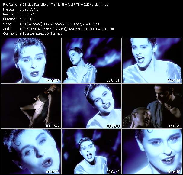 Lisa Stansfield - This Is The Right Time (UK Version)