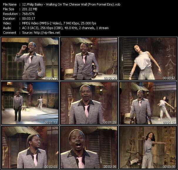 Philip Bailey - Walking On The Chinese Wall (From Formel Eins)