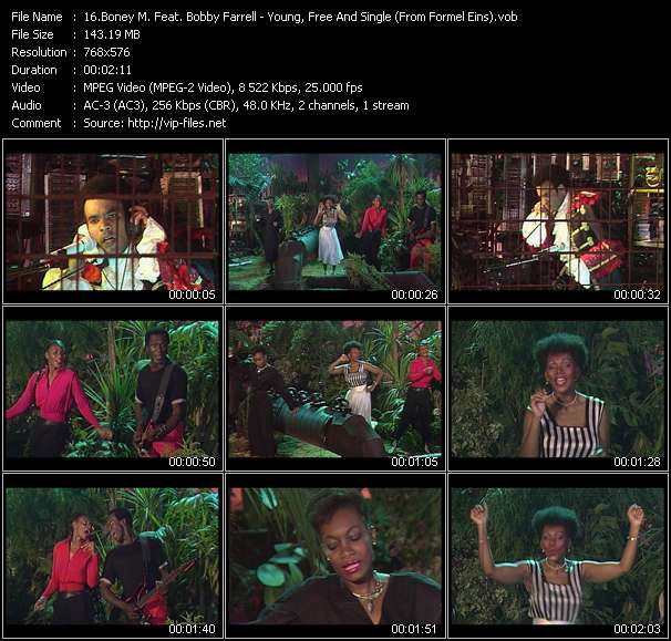 Boney M. Feat. Bobby Farrell - Young, Free And Single (From Formel Eins)