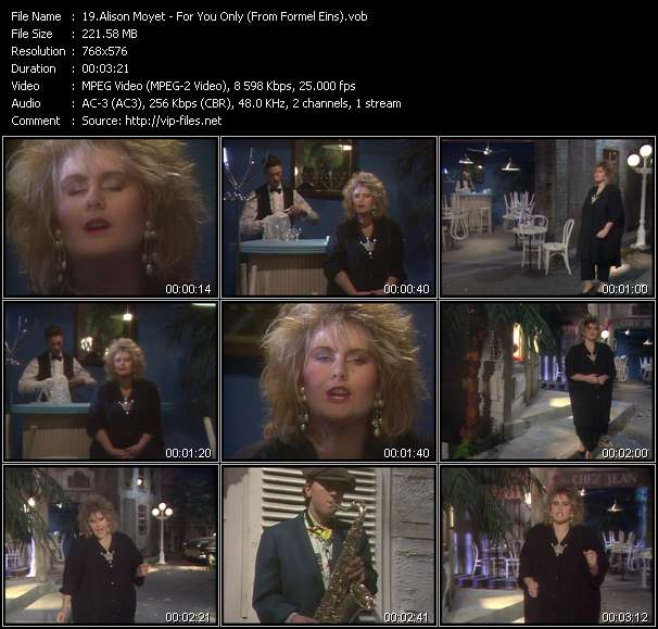 Alison Moyet - For You Only (From Formel Eins)